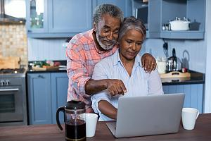 Couple reviewing financial planning options