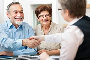 Couple working with legacy planning professional