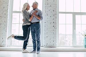Older couple purchasing real estate