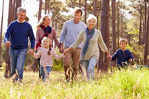 Retired couple considering legacy planning with family
