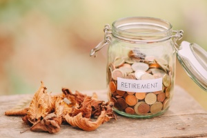 money jar with change for retirement