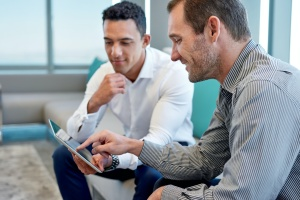 man asking questions to ask a wealth manager in meeting