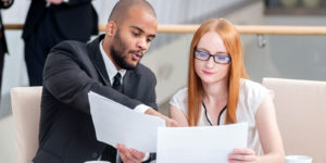 CWM employee as a Client Services Associate working with client