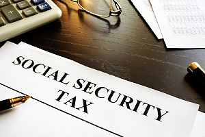 Document with title social security tax. Retirees can take to avoid taxes on Social Security benefits